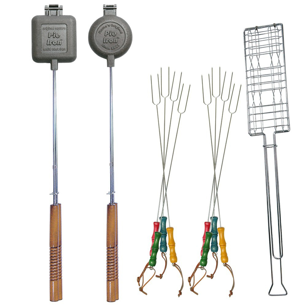 Fire Pit Cookout Set, Grill Tool and Cookware Sets
