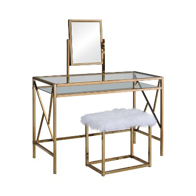 Burdette Contemporary Vanity Table Set - HOMES: Inside + Out