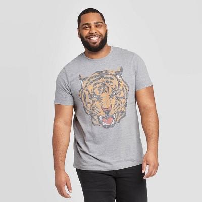 Men's Big & Tall Printed Regular Fit Short Sleeve Crew Neck T-Shirt - Goodfellow & Co™