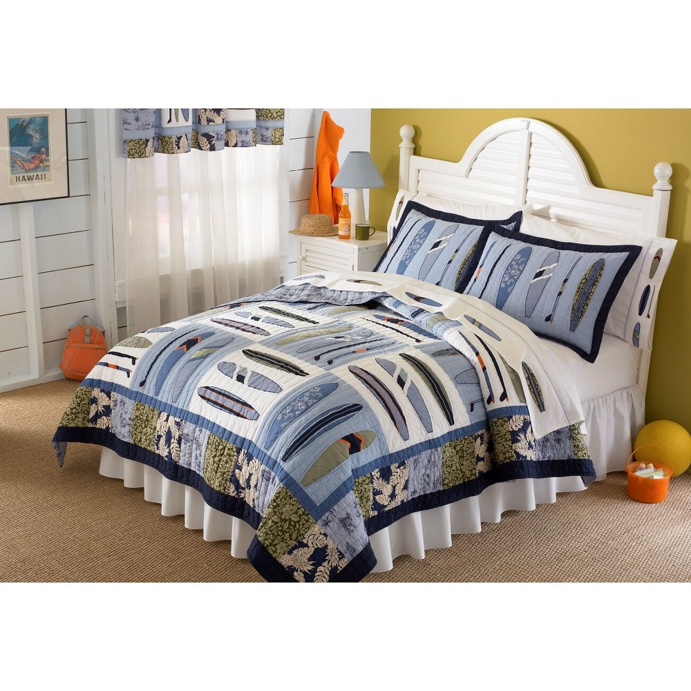 Image of Twin Catch A Wave Quilt Set - My World