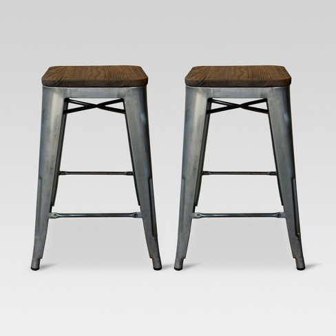 Hampden Wood Top 24 Counter Stool Metal Threshold Target