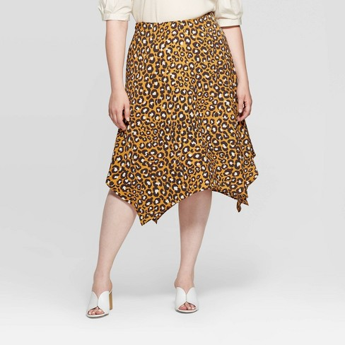 Women's Plus Size Mid-Rise A Line Midi Skirt - Who What Wear™ - image 1 of 3