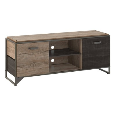 TV Stand Refinery Rustic Gray/Charred Wood - Bush Furniture