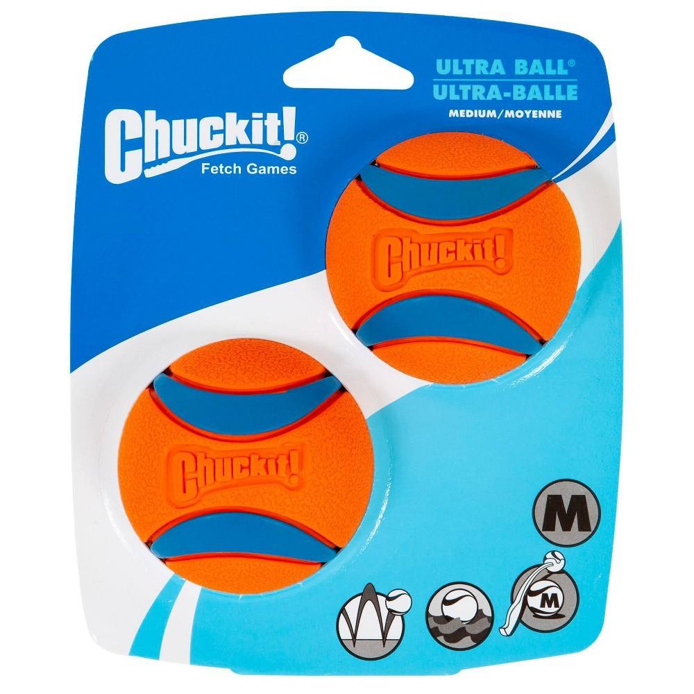 Chuckit Ultra Ball 2pk - Orange/Blue - M