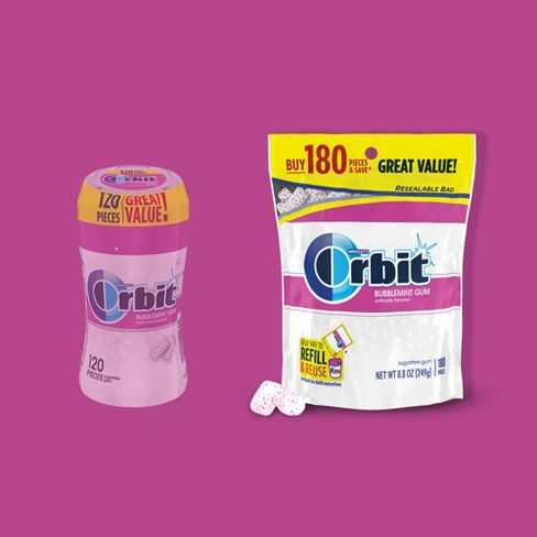 Orbit White Bubblemint Sugarfree Gum - 180ct