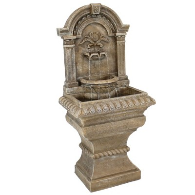 "Sunnydaze 51H Electric Polyresin Ornate Lavelllo Outdoor Water Fountain"""