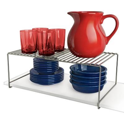 Lynk Expandable Locking Extra Shelf - Adjustable Closet Shelf Organizer - Platinum