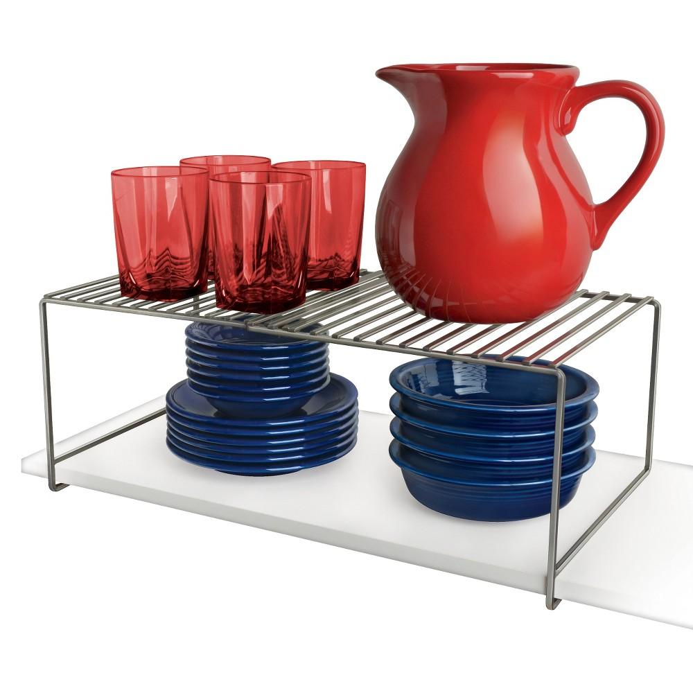 Image of Lynk Expandable Locking Extra Shelf - Adjustable Closet Shelf Organizer - Platinum (White)