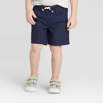 Toddler Boys' Polka Dots Pull-On Shorts - Cat & Jack™ Navy 18M