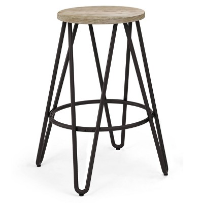 Kendall Metal Barstool with Wood - WyndenHall