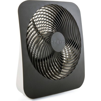 "Treva 10"" Battery Powered Portable Fin Fan with Adapter"