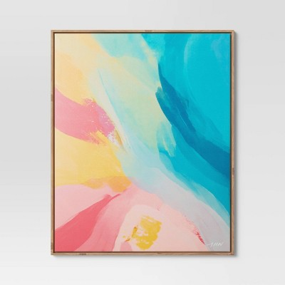 "25"" x 31"" Abstract by Morgan Harper Nichols Framed Wall Canvas"