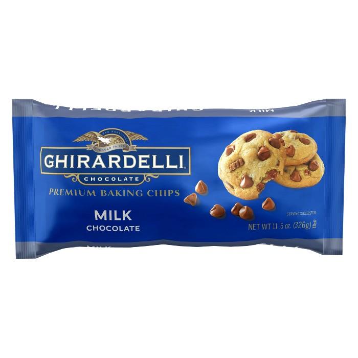 Ghirardelli Milk Chocolate Premium Baking Chips - 11.5oz - image 1 of 2