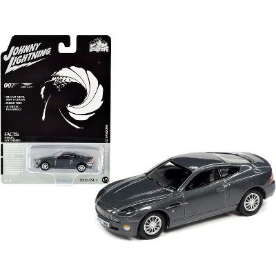 "2002 Aston Martin V12 Vanquish Gray Metallic (James Bond 007) ""Die Another Day"" (2002) Movie ""Pop Culture"" 1/64 Diecast Model Car by Johnny Lightning"