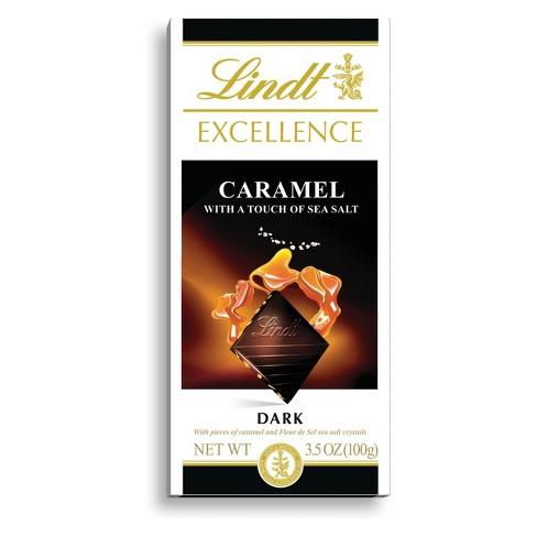 Lindt Excellence Caramel Sea Salt Dark Chocolate - 3.5oz - image 1 of 4