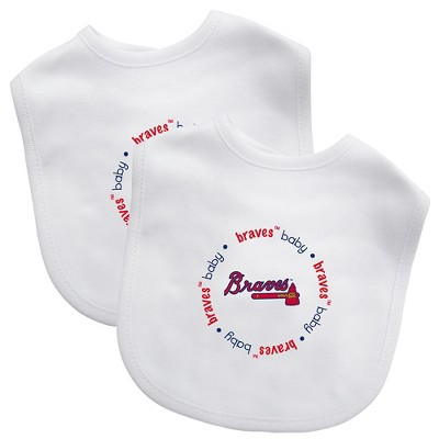 Atlanta Braves 2pk Bib Set