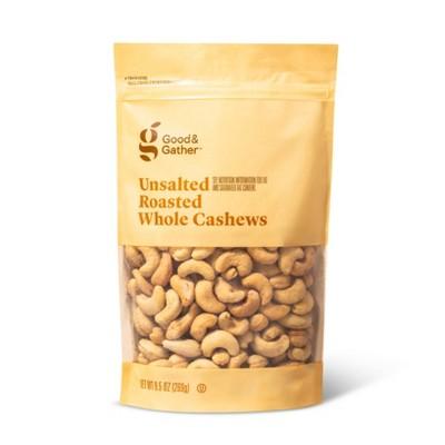 Unsalted Roasted Whole Cashews - 9.5oz - Good & Gather™