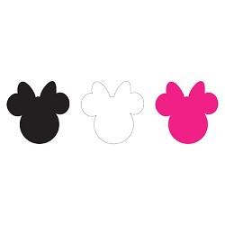 Disney Minnie Ears Large, Multi, Adhesive Felt, Pack of 6