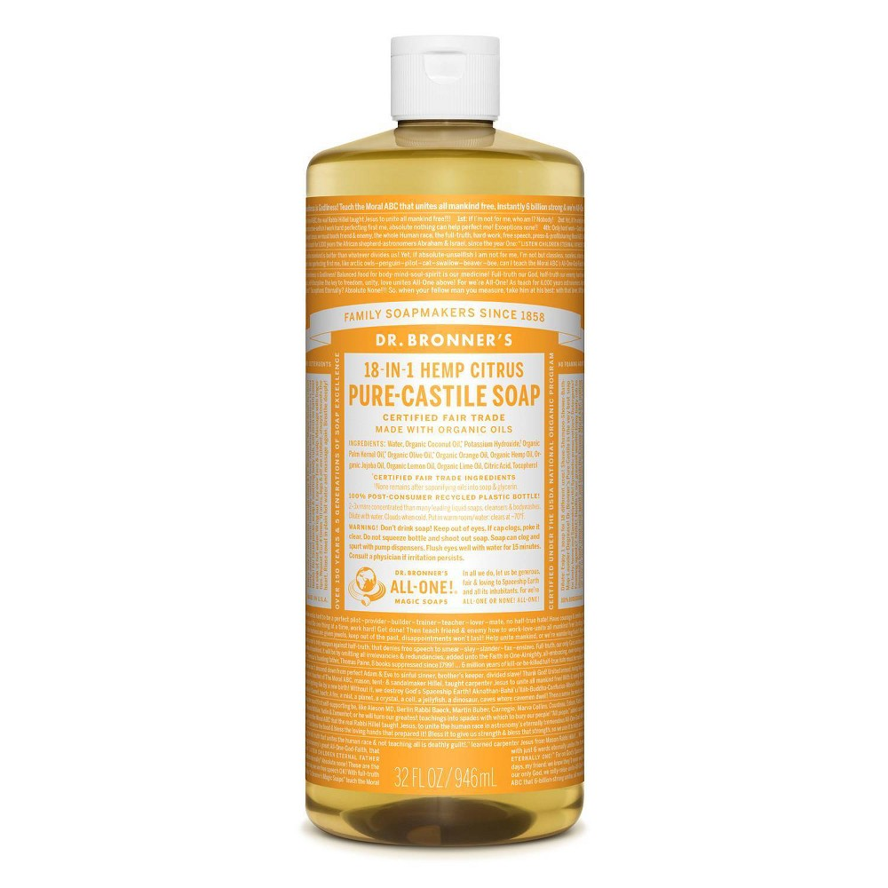 Image of Dr. Bronner's 18-In-1 Hemp Pure-Castile Soap - Citrus - 32 fl oz