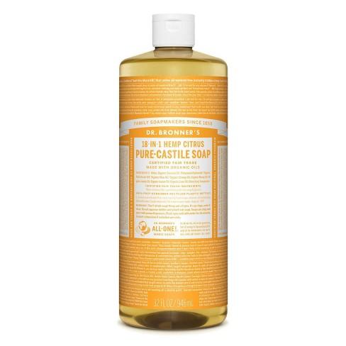 Dr. Bronner's 18-In-1 Hemp Pure-Castile Soap - Citrus - 32 fl oz - image 1 of 3
