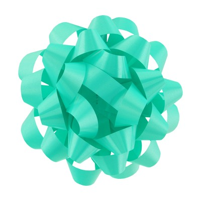 """6"""" Large Gift Bow Sea Green - Spritz™"""