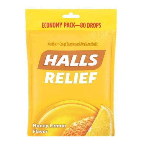 Halls Cough Drops - Honey Lemon - 80ct - image 1 of 4