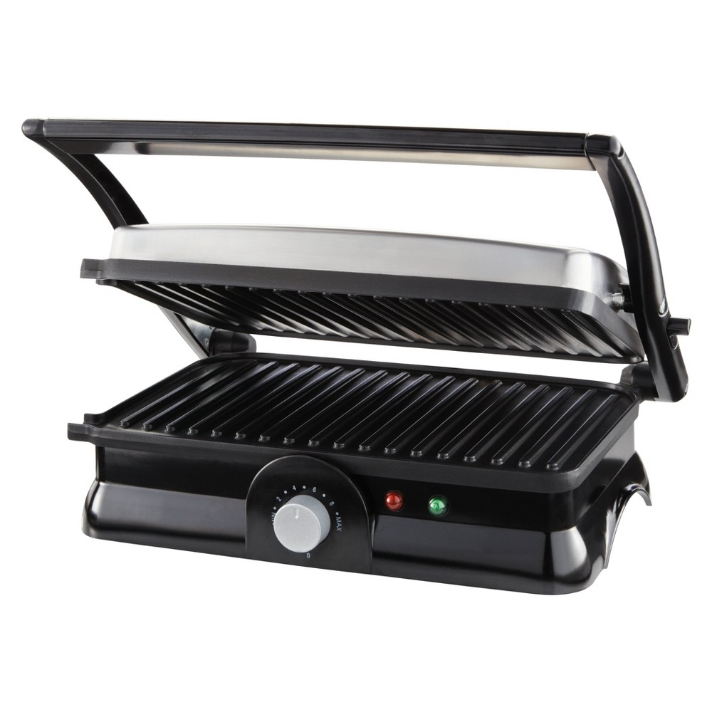 Sunbeam 2 Slice Panini Maker - CKSBPM5020, Silver Get creative with your meals with the Sunbeam 2-Slice Panini Maker. While this electric griddle makes perfect panini lines on your hot sandwiches, you can also use it for hamburger patties, French toast and more. Use the cleaning spatula and wipe down once the surface cools to keep this panini press ready for your next cooking adventure. Color: Silver.