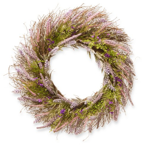 "Artificial Lavender Wreath Purple 24"" - National Tree Company® - image 1 of 1"