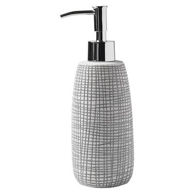 Cestino Lotion Dispenser Gray/White - Cassadecor