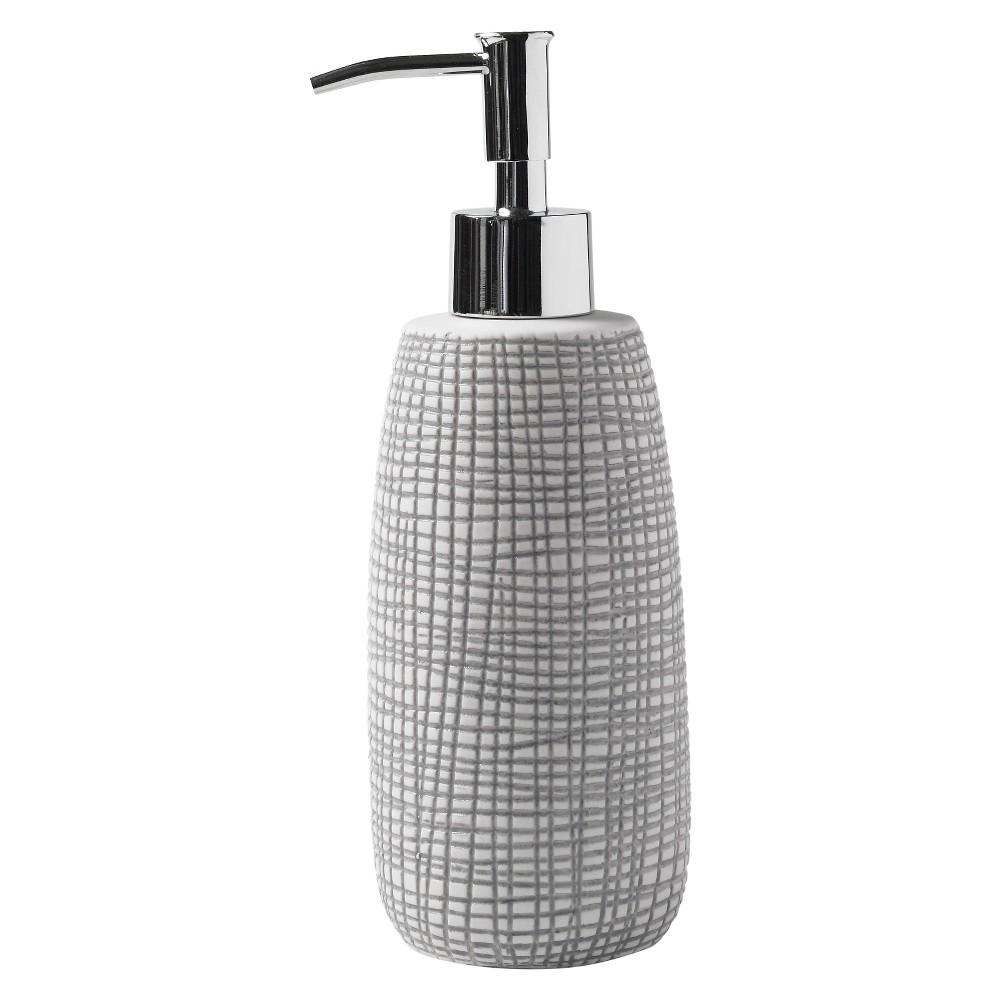 Image of Cestino Lotion Dispenser Gray/White - Cassadecor