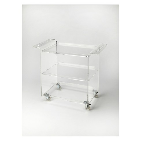 Butler Specialty Crystal Trolley Server Clear Acrylic - image 1 of 2