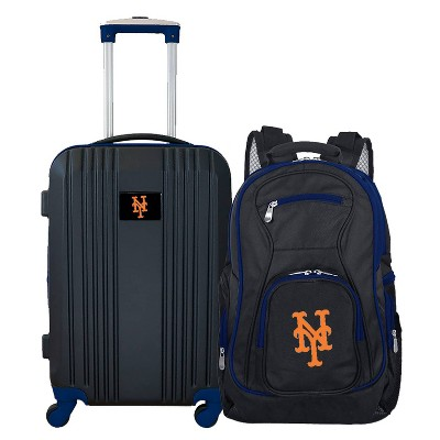 MLB New York Mets 2 Pc Carry On Luggage Set