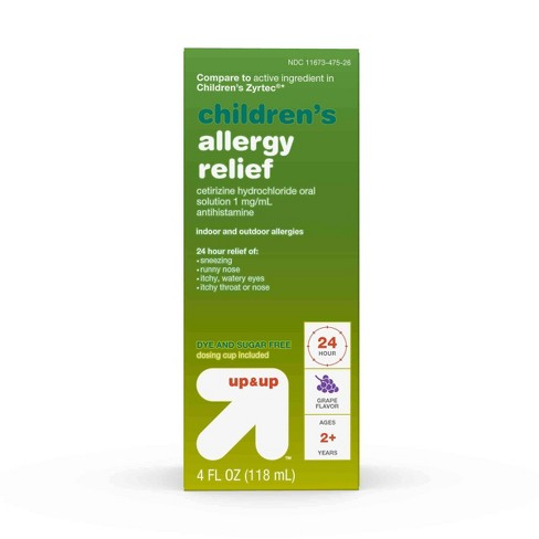 Children's Cetirizine Hydrochloride Allergy Relief Liquid - Grape - 4 fl oz - Up&Up™ - image 1 of 5