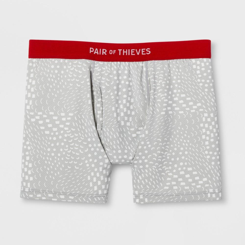 Pair of Thieves Men's Super Fit Boxer Briefs - Light Gray M