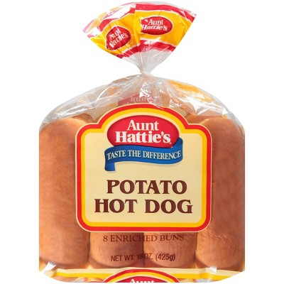 Aunt Hattie's Potato Hot Dog Buns - 15oz/8ct