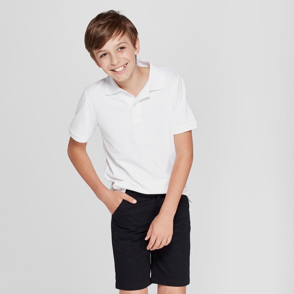 Boys' Short Sleeve Stain Release Uniform Polo Shirt - Cat & Jack White XS
