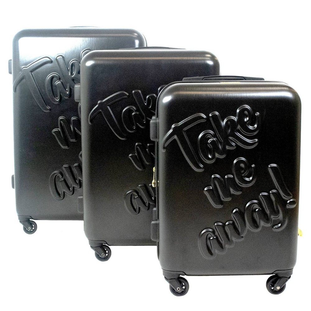 The Macbeth Collection 3pc Take me Away Hardside Spinner Luggage Set - Black
