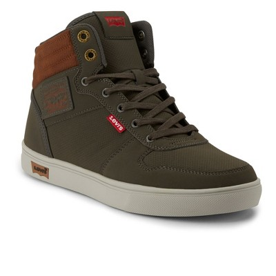 Levi's Mens Liam Pin Perf C Rubber Sole Casual High Top Fashion Sneaker Shoe