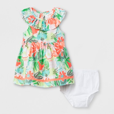 Baby Girls' A-Line Dress - Cat & Jack™ Floral Baby