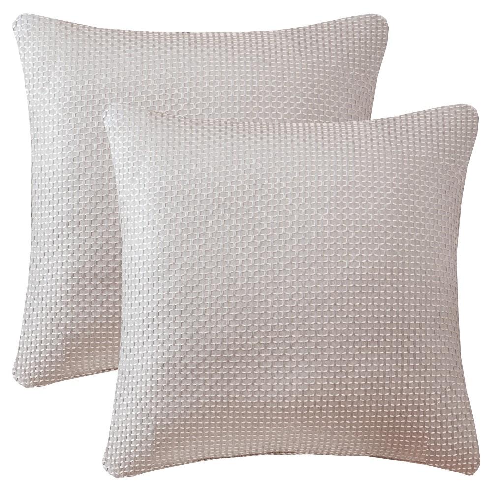 Natural Maeve Texture Jacquard Throw Pillow Pair (20