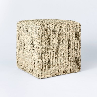 Lynwood Square Woven Cube Natural - Threshold™ designed with Studio McGee