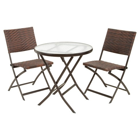 El Paso 3pc Wicker Bistro Set - Christopher Knight Home - image 1 of 4