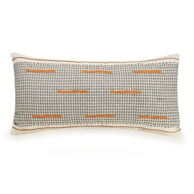 Lumbar Decorative Throw Pillow White/Orange/Gray - Ayesha Curry