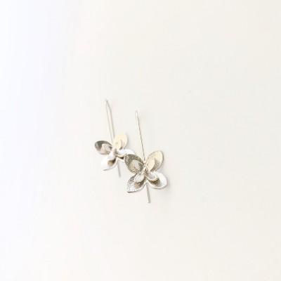 Sanctuary Project Magnolia Flower Earrings Silver