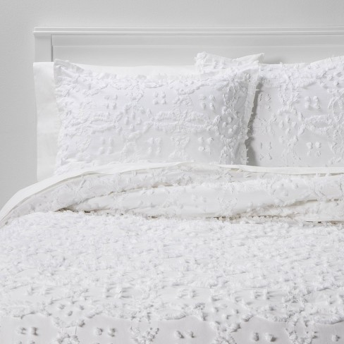 Clipped Chenille Comforter Sham Set, Twin Long Bedding
