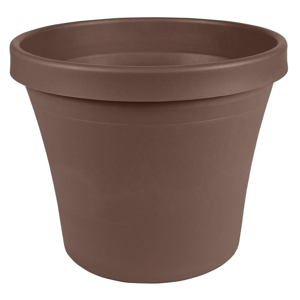 "Image of ""10"""" Terra Pot Planter Chocolate Bloem"""
