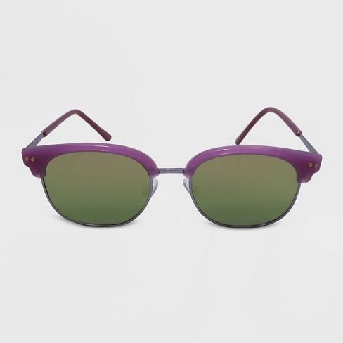 Women's Clubmaster Plastic Metal Combo Silhouette Square Sunglasses - Wild Fable™ Purple - image 1 of 2