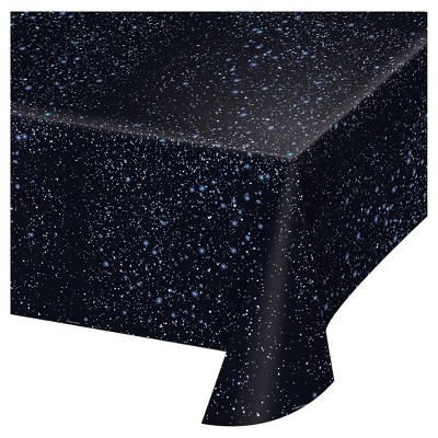 Space Blast Plastic Tablecloth