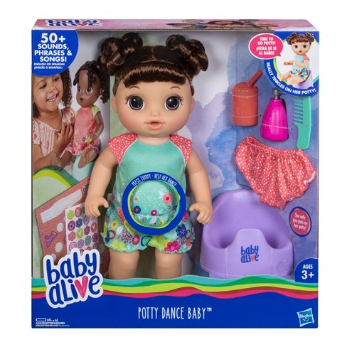 d000aa246 Baby Alive Potty Dance Baby Doll - Brown Curly Hair   Target