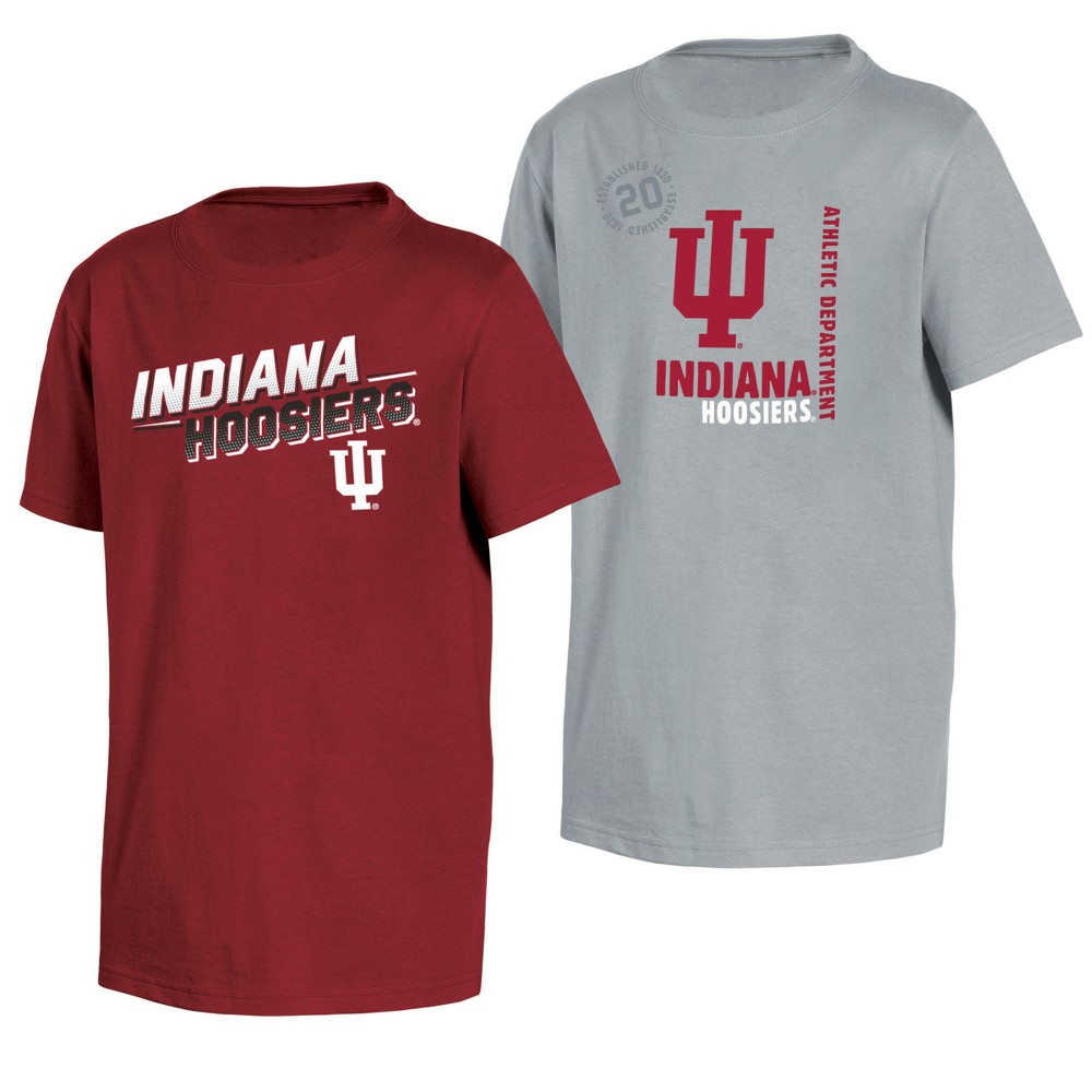 Indiana Hoosiers Double Trouble Toddler Short Sleeve 2pk T-Shirts 3T, Toddler Boy's, Multicolored